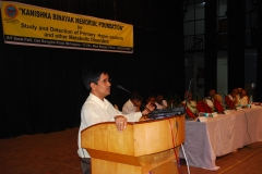 Dr. M.Mandal from School of Medical Sciences IIT   KGPdelivering Speech at KBMmerial inaugural Ceremony on 28.7.2013