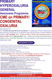 CME Poster -Primary Hyperoxluria